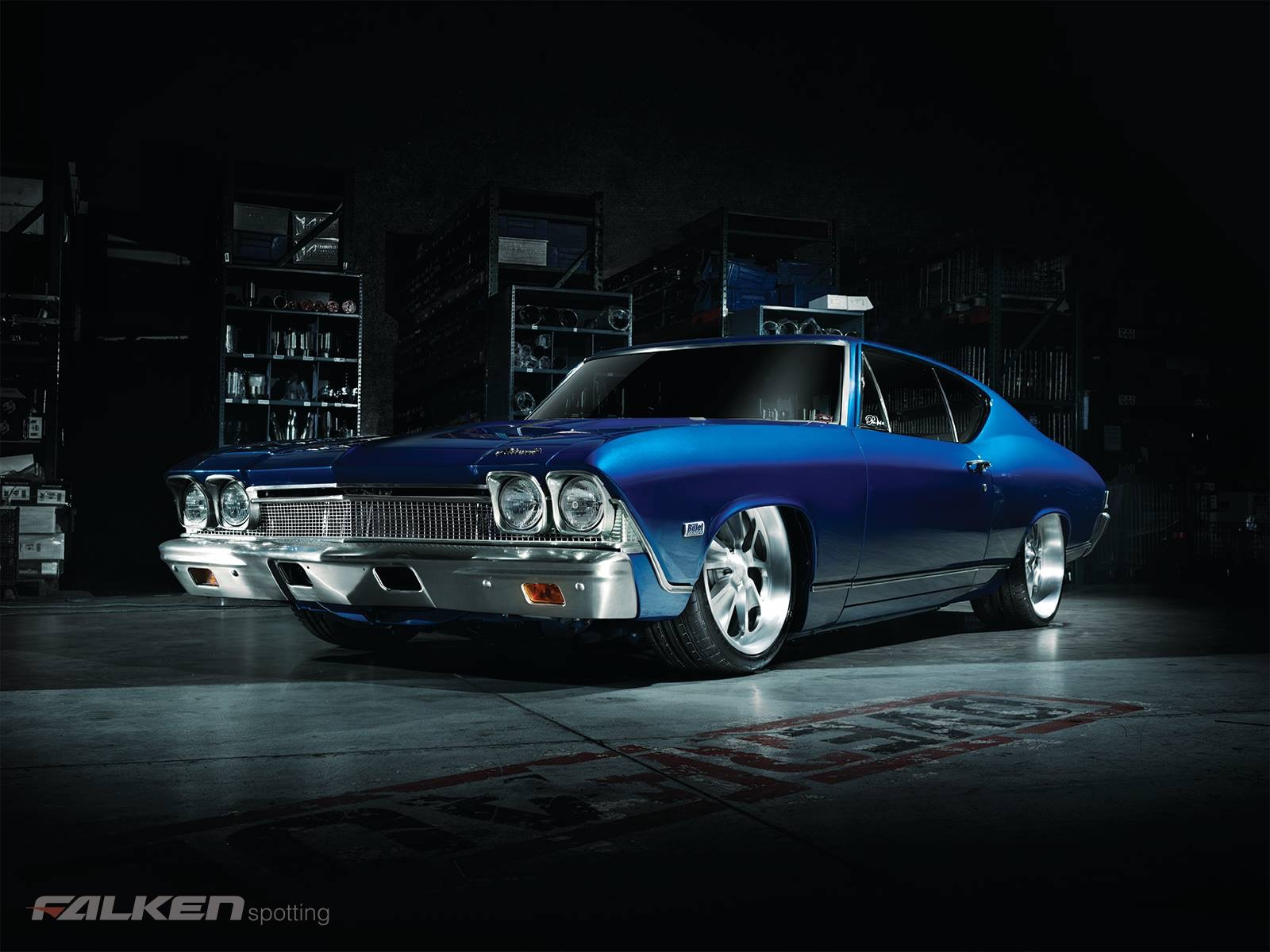 My 68 Chevelle blue eyed devil 1968 chevy malibu Falken tires